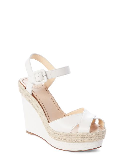 97fa50af3415 Christian Louboutin. Women s White Almeria 120 Leather Espadrille Wedge  Sandals