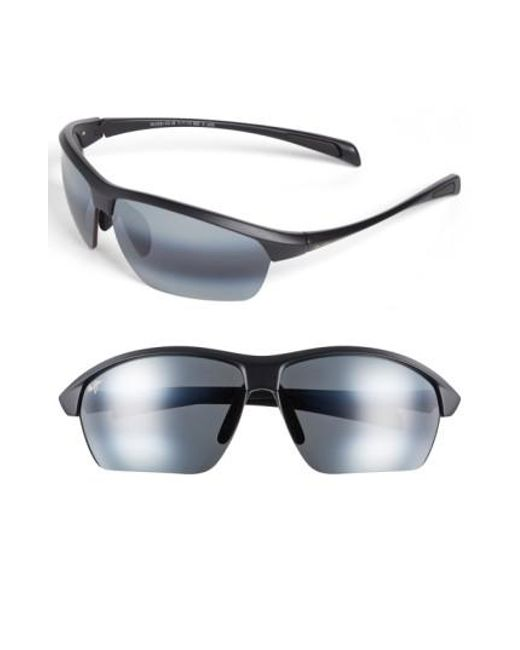 Maui Jim | Black 'stone Crushers - Polarizedplus2' 71mm Sunglasses for Men | Lyst