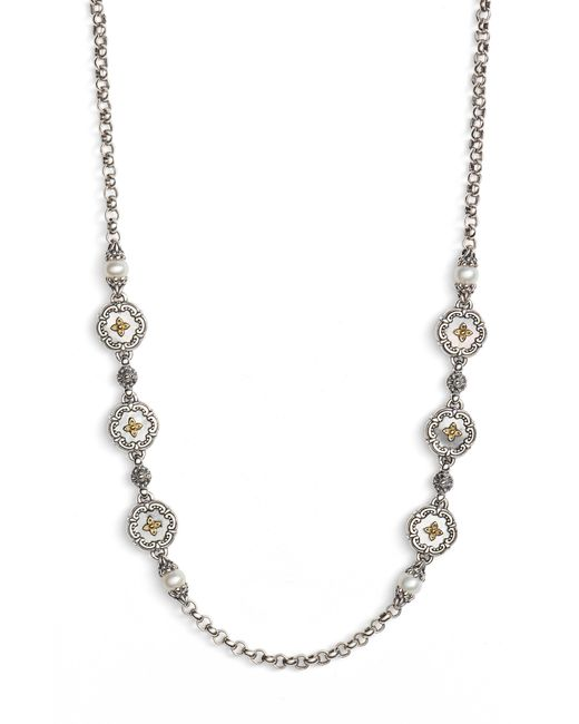 Konstantino - Metallic Etched Sterling & Pearl Necklace - Lyst