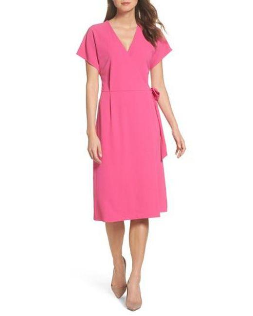 Felicity & Coco - Pink Rita Wrap Dress - Lyst