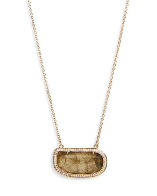Melanie Auld - Metallic Pendant Necklace - Lyst