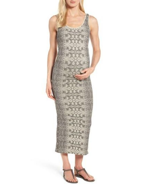 Tees by Tina - Multicolor Snake Print Maternity Maxi Dress - Lyst