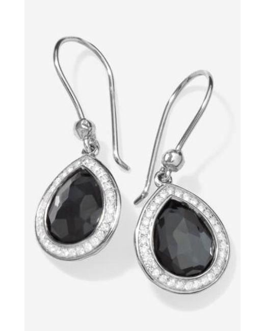 Ippolita   Black 'stella' Teardrop Earrings   Lyst
