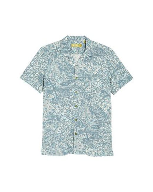 9f9543eb1f184 Lyst - Kahala The Shoals Trim Fit Camp Shirt in Blue for Men