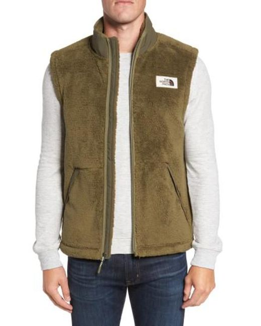 The North Face | Green Khampfire Fleece Vest for Men | Lyst