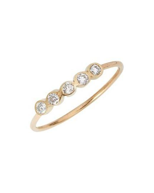 Zoe Chicco | Yellow Diamond Bezel Ring | Lyst