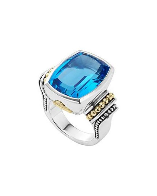 Lagos - Blue 'caviar Color' Large Semiprecious Stone Ring - Lyst
