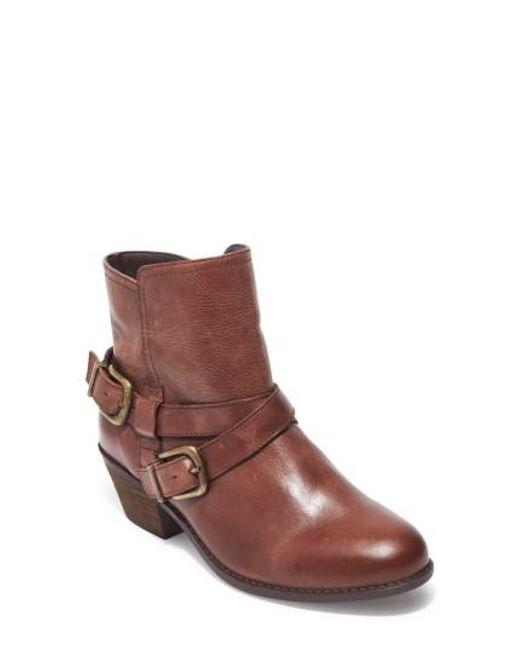 Me Too | Brown Zuri Buckle Boot | Lyst