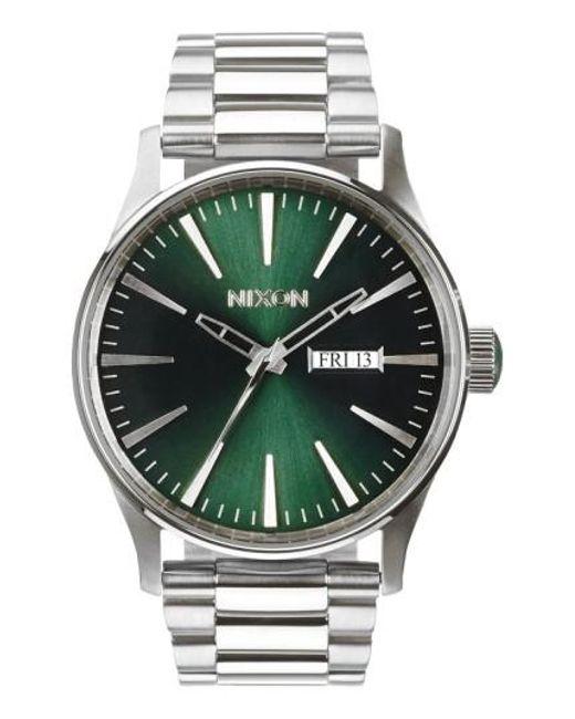 Nixon - Green 'the Sentry' Round Bracelet Watch for Men - Lyst