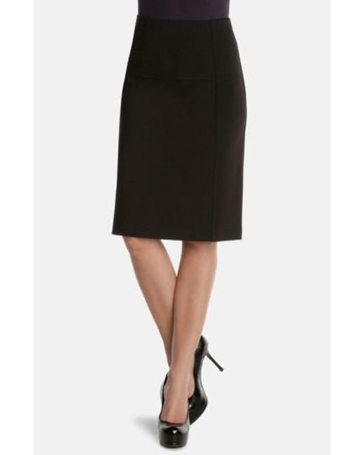NIC+ZOE - Black 'new Flirt' Ponte Knit Skirt - Lyst