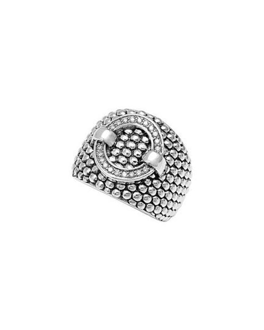 Lagos | Metallic 'enso' Diamond Statement Ring | Lyst