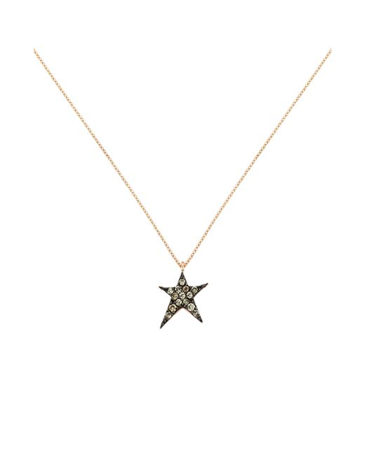 Kismet by Milka - Metallic Struck Star Champagne Diamond Necklace - Lyst