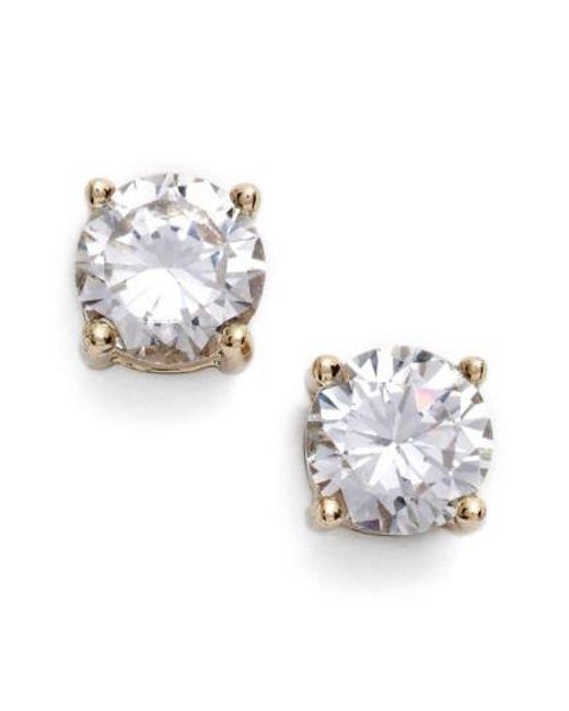 Givenchy   Metallic Crystal Stud Earrings   Lyst