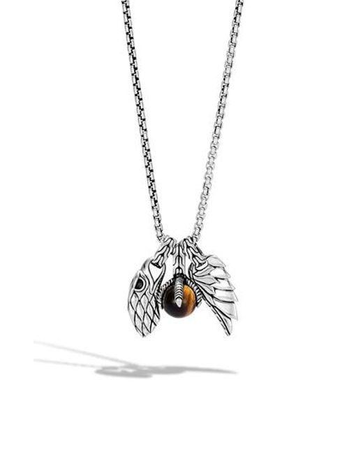 John Hardy - Metallic Legends Eagle Amulet Pendant Necklace for Men - Lyst