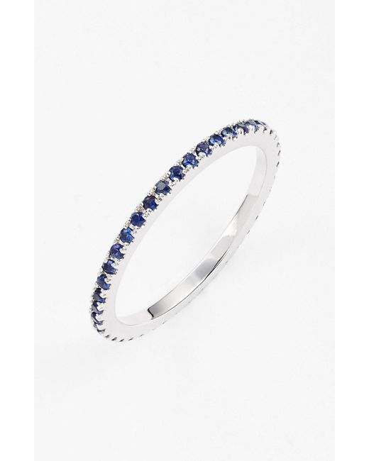Bony Levy - Blue Gem Eternity Band Ring (limited Edition) (nordstrom Exclusive) - Lyst