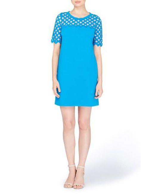 Catherine Malandrino - Blue Rue Lattice Lace Shift Dress - Lyst