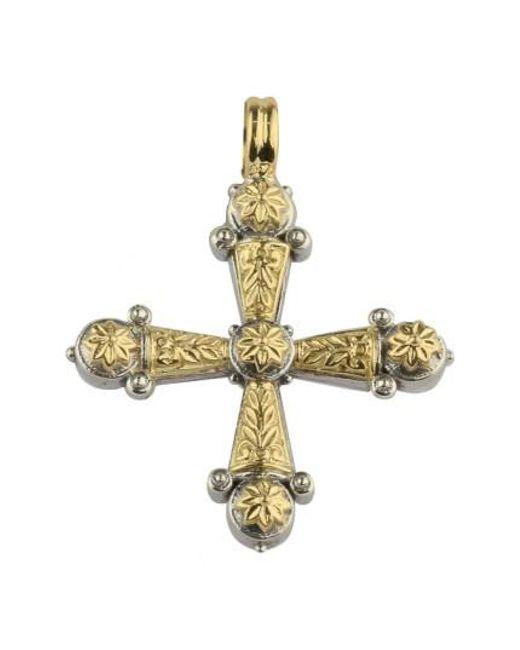 Konstantino | Metallic 'eros' Maltese Cross Pendant | Lyst