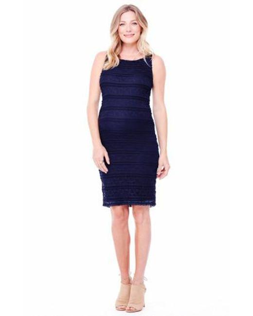 Ingrid & Isabel | Blue Ingrid & Isabel Sleeveless Stretch Lace Maternity Dress | Lyst