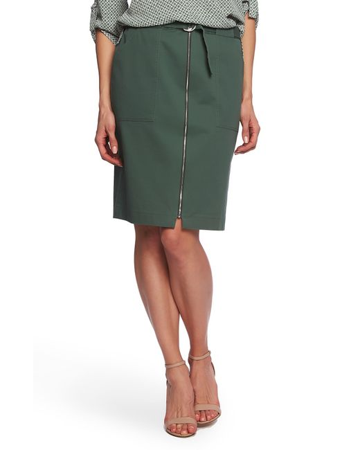 353a5e7bda Chaus - Green Belted Pencil Skirt - Lyst ...