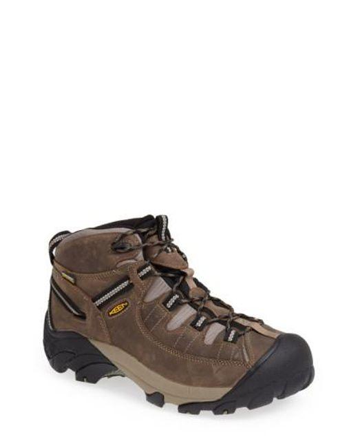 Keen   Brown 'targhee Ii Mid' Hiking Boot for Men   Lyst