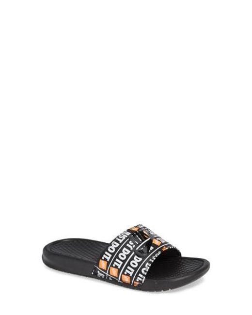b7eb5889b2fe Lyst - Nike Benassi Jdi Slide Sandal in Black