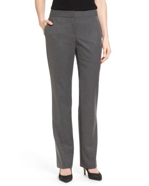 Vince Camuto | Gray Straight Leg Pants | Lyst