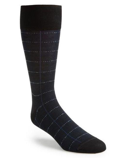 John W. Nordstrom | Black John W. Nordstrom Broken Grid Socks for Men | Lyst