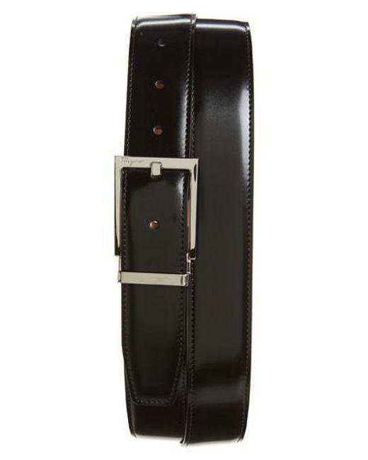 Ferragamo - Black Reversible Leather Belt for Men - Lyst