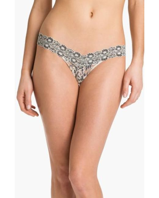 Hanky Panky | White Cross Dyed Low Rise Thong | Lyst