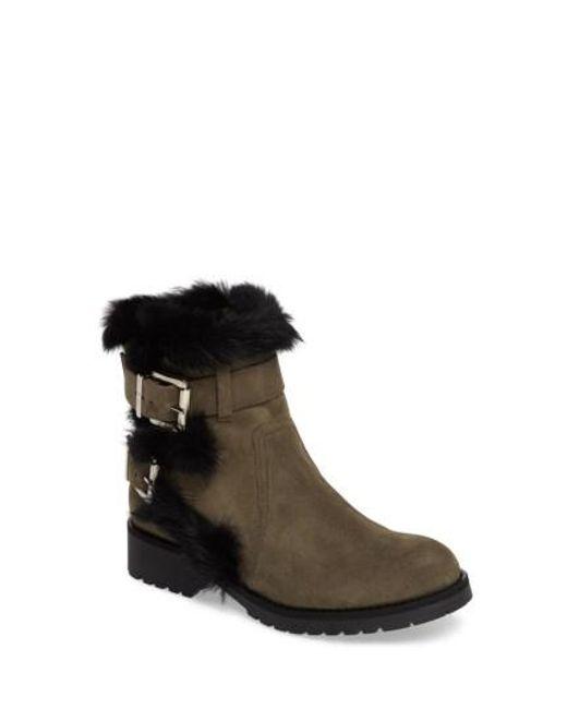 Charles David | Brown Rustic Genuine Rabbit Fur Cuff Boot | Lyst