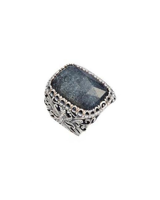 Konstantino - Metallic Santorini Hematite Ring - Lyst