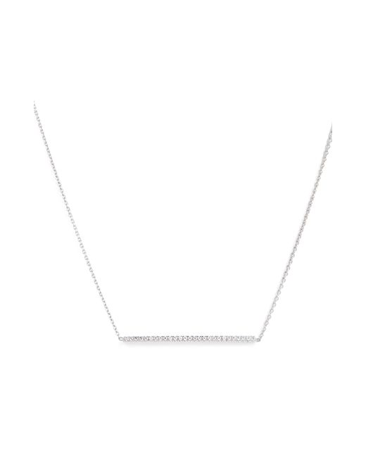 Roberto Coin - Metallic Tiny Treasures Diamond Bar Necklace - Lyst