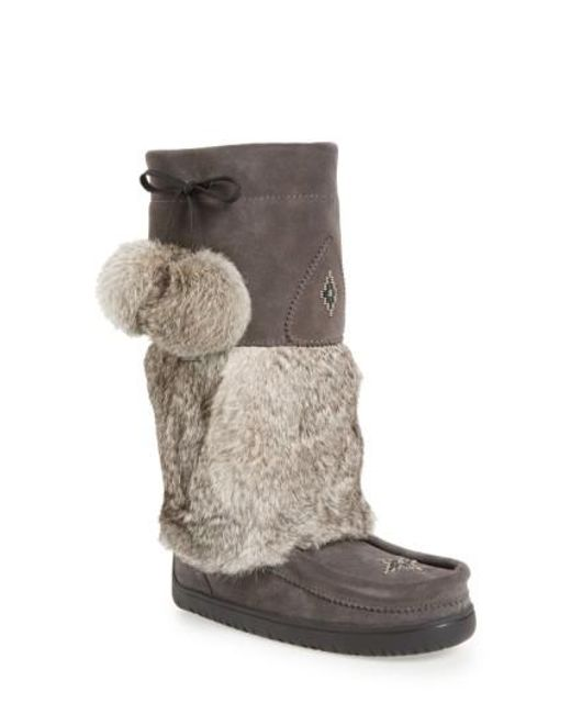 Manitobah Mukluks - Multicolor Snowy Owl Waterproof Genuine Fur Boot - Lyst