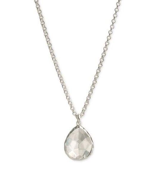Ippolita   Metallic 'wonderland' Large Teardrop Pendant Necklace - Sterling Silver- Clear Quartz (nordstrom Exclusive)   Lyst