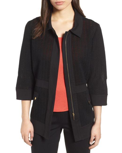 Ming Wang - Black Jacquard Jacket - Lyst