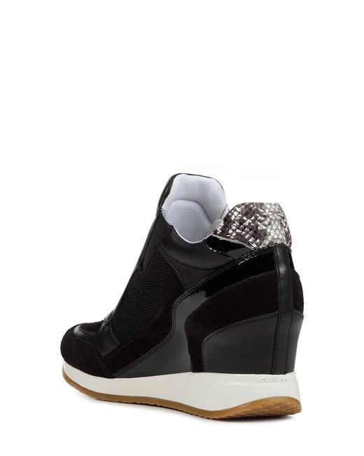 4fd7f7c2ef4 Geox Nydame Wedge Sneaker in Black - Save 7% - Lyst