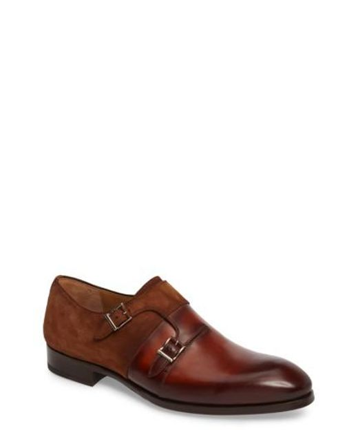 Magnanni Shoes | Brown Orville Double Monk Strap Shoe for Men | Lyst