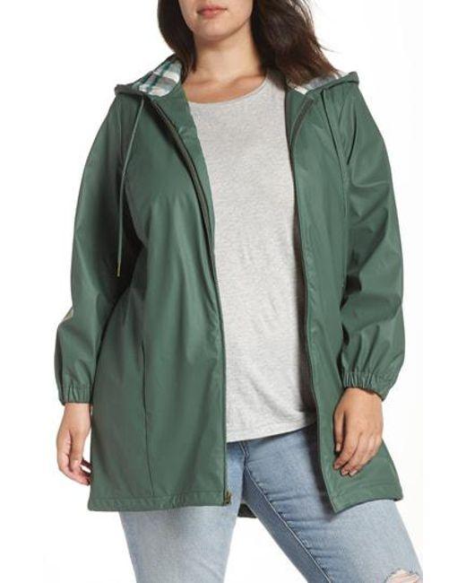 c742789f165ec Lyst - Caslon Caslon Hooded Rain Jacket in Green