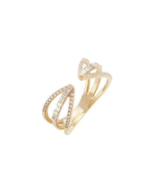 EF Collection - Metallic Open Baguette Queen Diamond Ring - Lyst