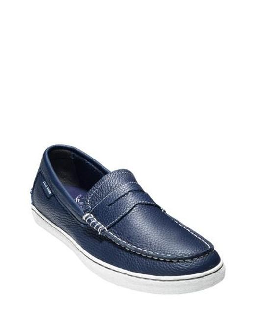 Cole Haan - Blue 'pinch' Penny Loafer for Men - Lyst