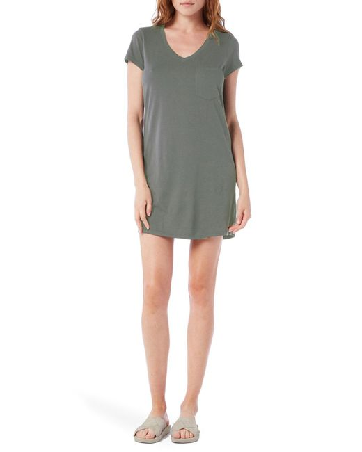 Michael Stars - Gray V-Neck Jersey Mini Dress - Lyst