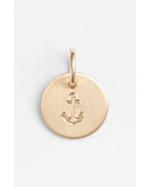 Nashelle | Metallic Anchor Mini Stamp Charm | Lyst