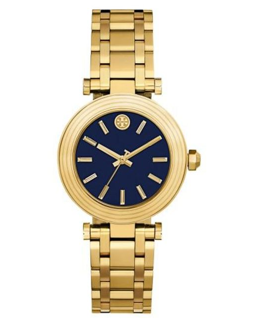 Tory Burch | Metallic Classic-t Bracelet Watch | Lyst
