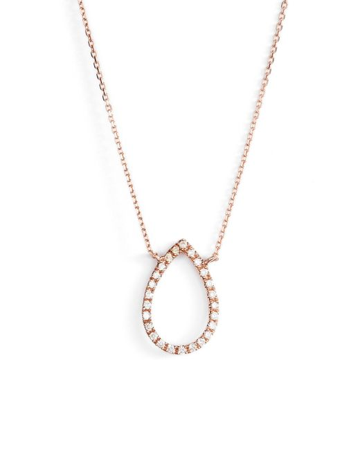 Dana Rebecca - Metallic Marquise Diamond Pendant Necklace - Lyst