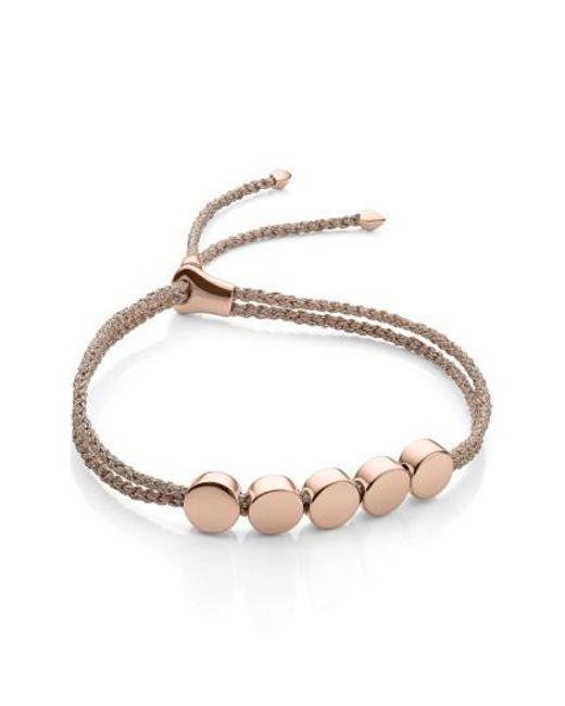 Monica Vinader   Metallic Friendship Bracelet   Lyst