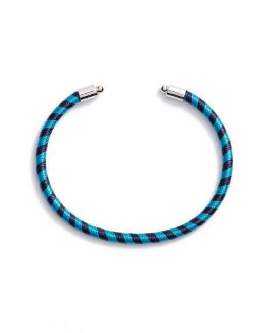 Rebecca Minkoff | Blue Candy Stripe Cuff | Lyst