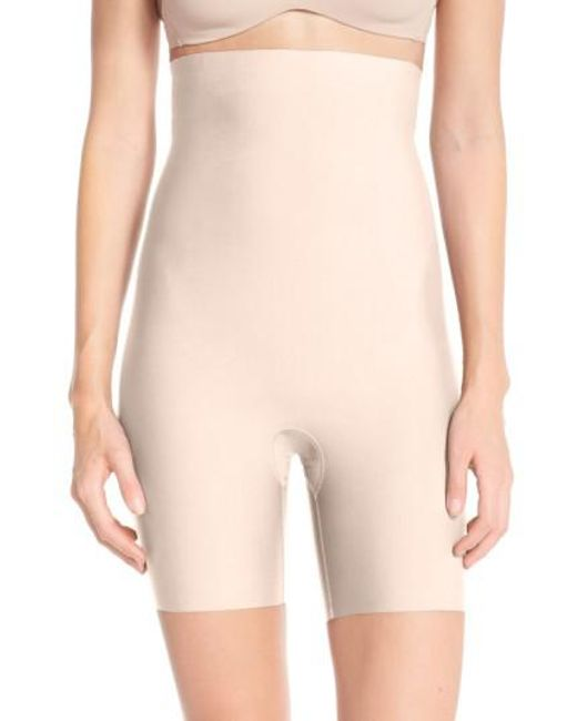Spanx - Natural Spanx Thinstincts Mid Thigh Shorts - Lyst