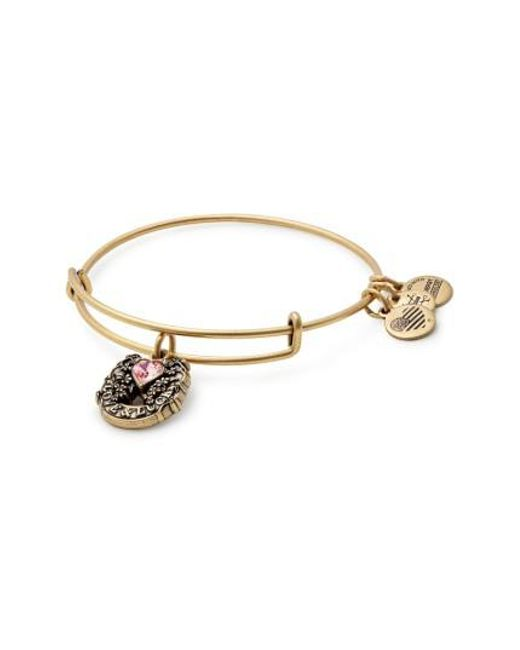ALEX AND ANI | Metallic Fortune's Favor Adjustable Wire Bangle | Lyst