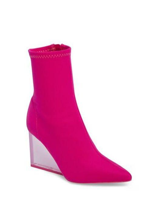 Jeffrey Campbell Women's Siren Clear Wedge Sock Bootie uAd5S