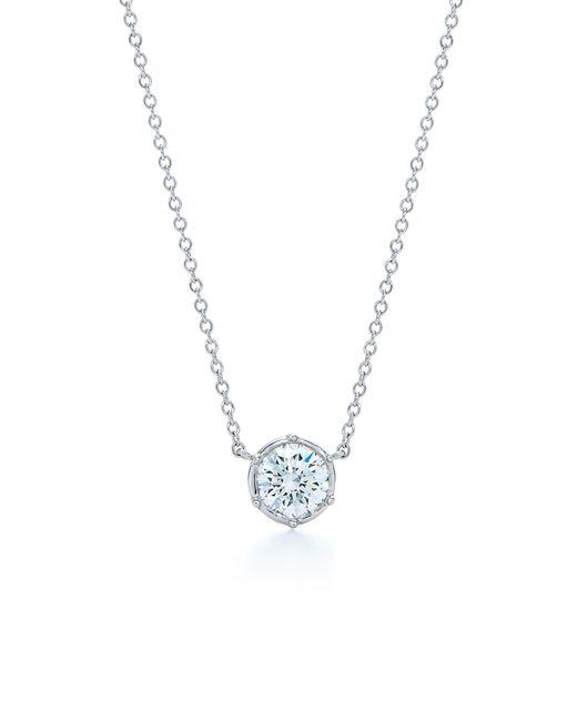 Kwiat - Metallic Classic Diamond Bezel Pendant Necklace - Lyst